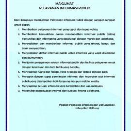 Maklumat Pelayanan Informasi Publik